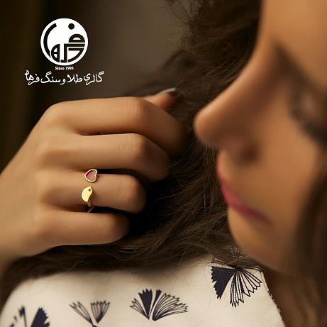 انگشتر طلا طرح پرنده و قلب کد R456