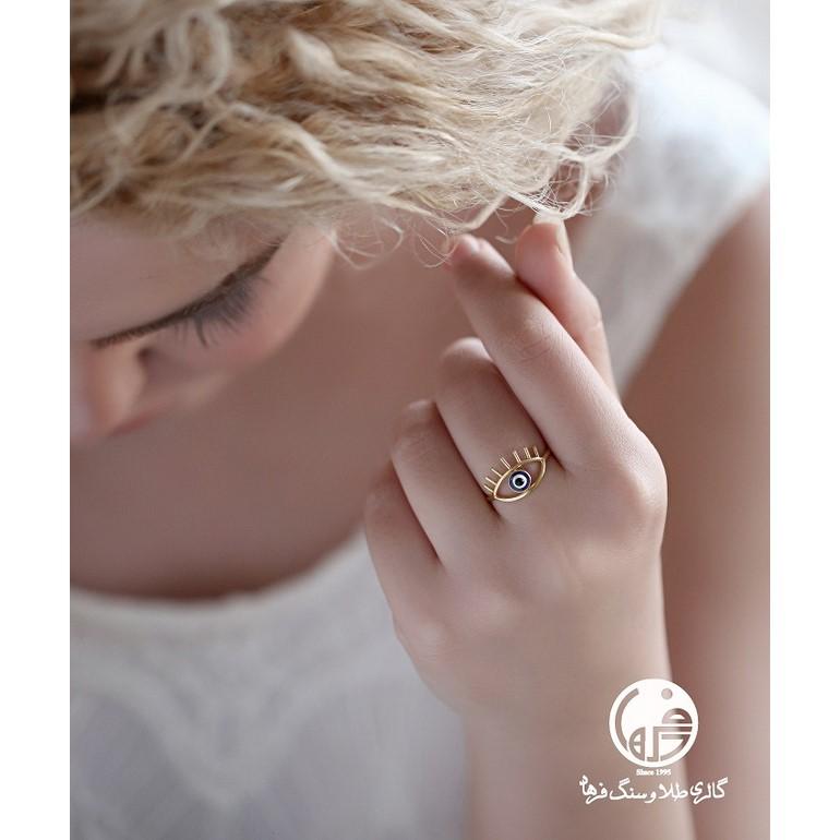 انگشتر طلا طرح چشم و نظر کد R546