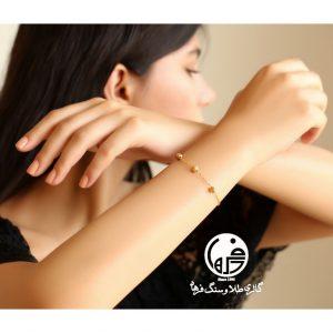 دستبند طلا طرح گوی تراش برناردو