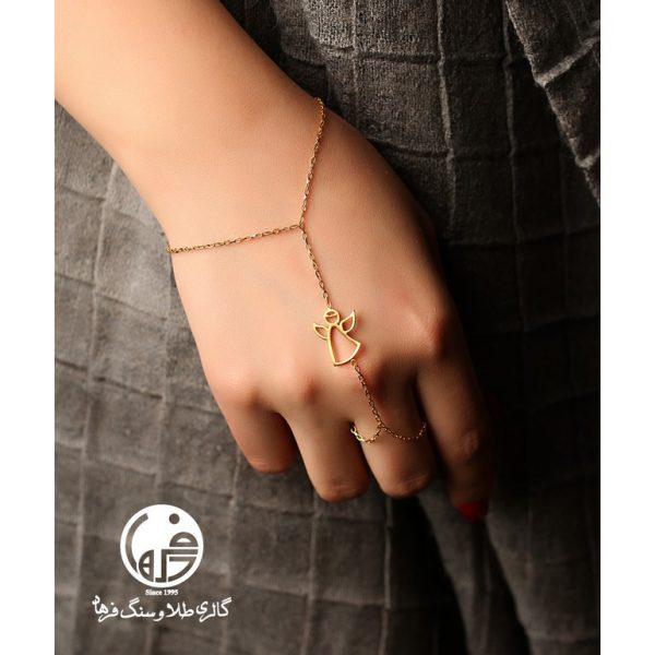 دستبند تمیمه طلا طرح فرشته