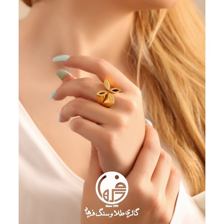 انگشتر طلا طرح آنجل هابل کد R464