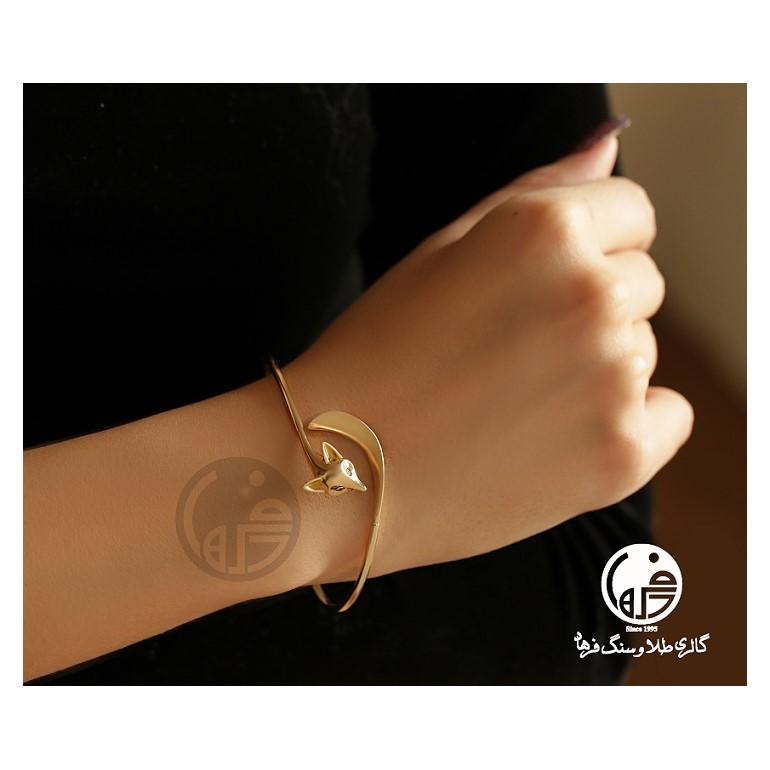 دستبند النگویی طلا طرح روباه کد B683