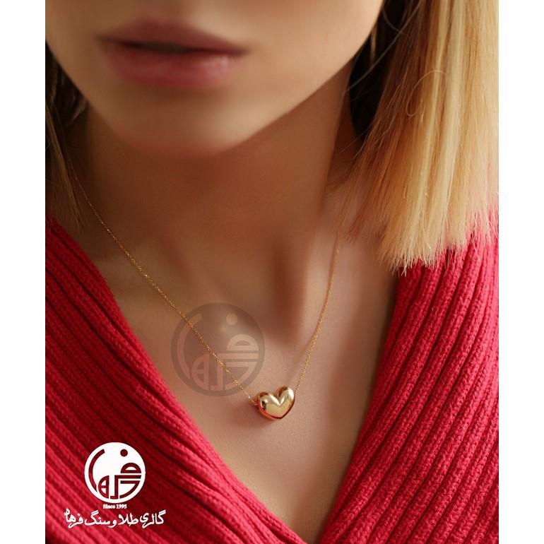 گردنبند طلا طرح قلب کد N630