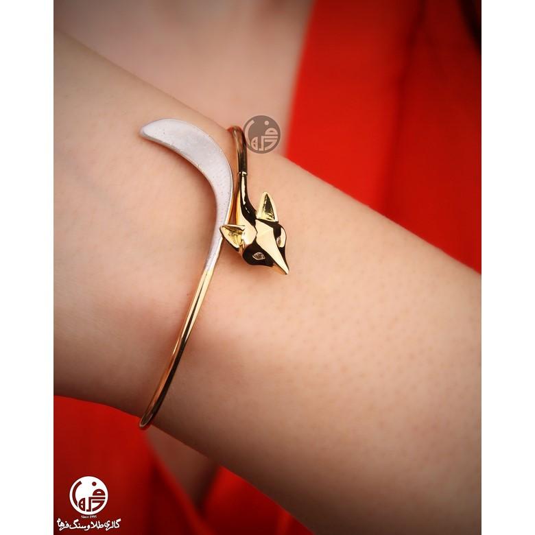 دستبند النگویی طلا طرح روباه