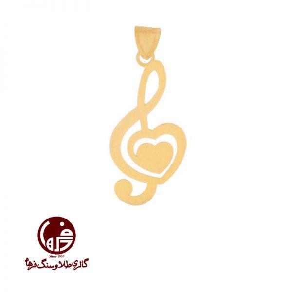 آویز طلا طرح کلید سل و قلب