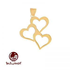 آویز طلا طرح قلب
