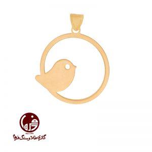 آویز طلا طرح پرنده