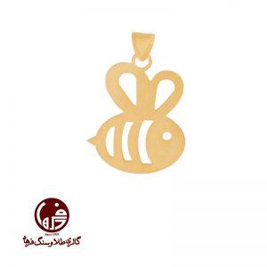 آویز طلا طرح زنبور