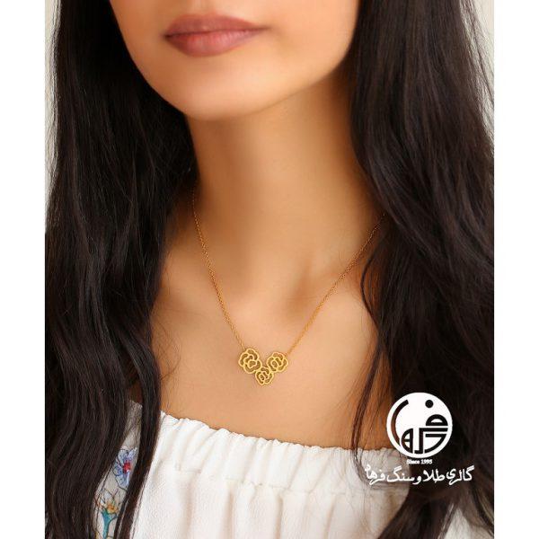 گردنبند طلا طرح گل شانل