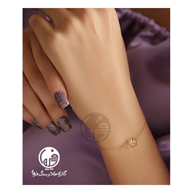 دستبند طلا طرح مکعب