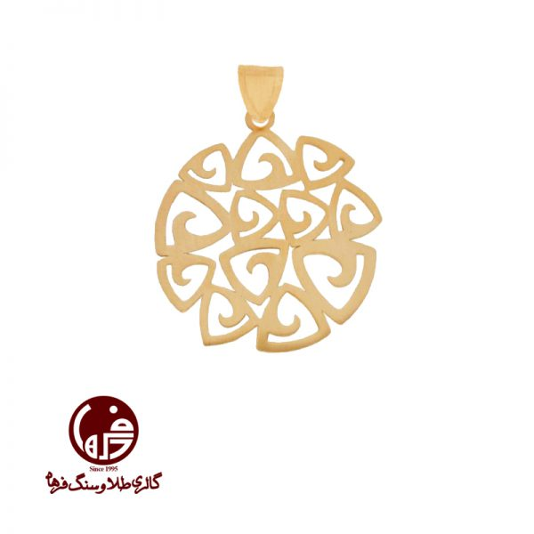 آویز طلا زرد طرح اسلیمی