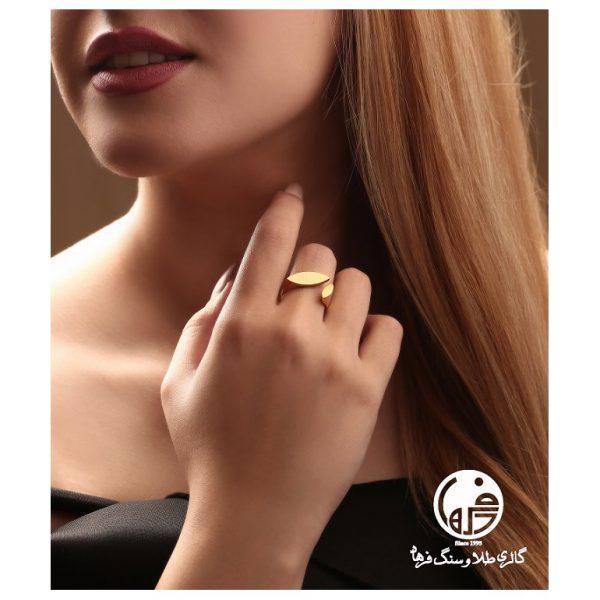 انگشتر طلا طرح آنجل هابل کدR484