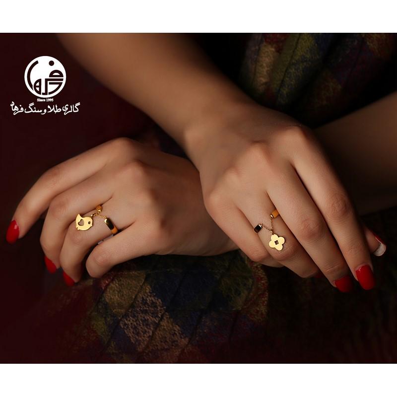 انگشتر طلا طرح پرنده و قلب کد R338