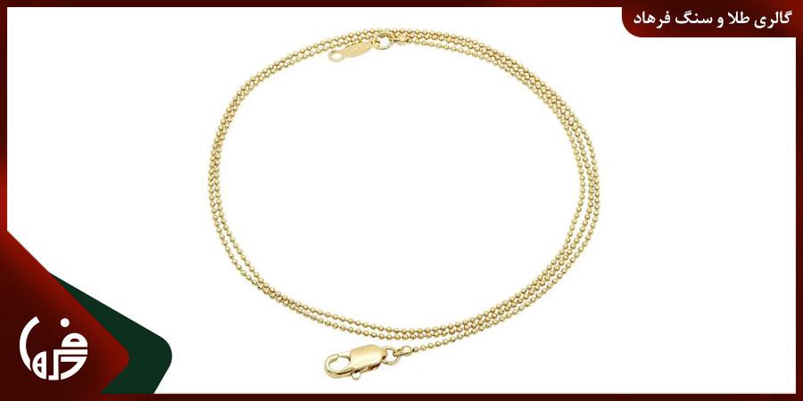 زنجیر طلا توپی یا دانه ای