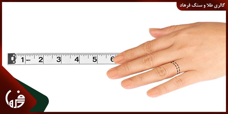 راهنمای تعیین سایز انگشتر طلا زنانه