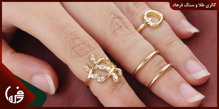 اندازه بند انگشتان برای سایز انگشتر
