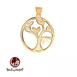 آویز طلا طرح درخت زندگی
