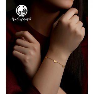 دستبند طلا طرح قلب کد B670