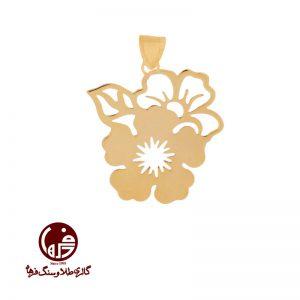 آویز طلا طرح گل