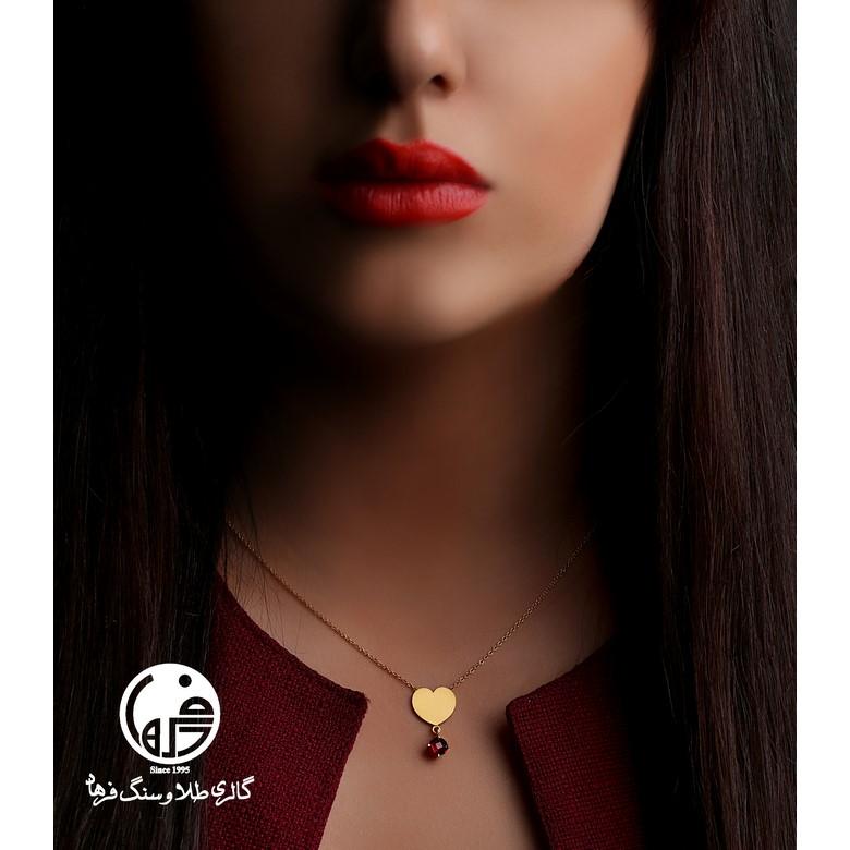 گردنبند طلا طرح قلب کد N296