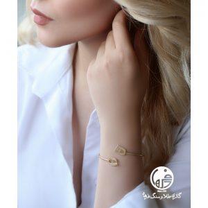 دستبند النگویی طلا طرح نیمانی