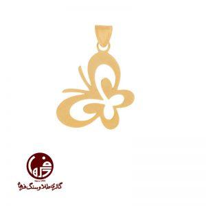 آویز طلا طرح پروانه