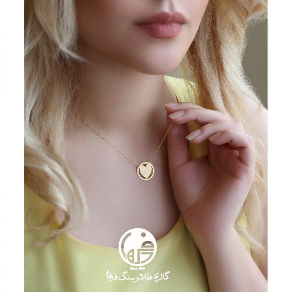 گردنبند طلا طرح قلب کد N572