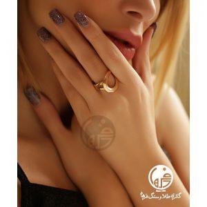 انگشتر طلا طرح آنجل هابل کد R668