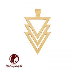 آویز طلا طرح مثلث