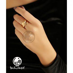 انگشتر طلا طرح حلقه کارتیه