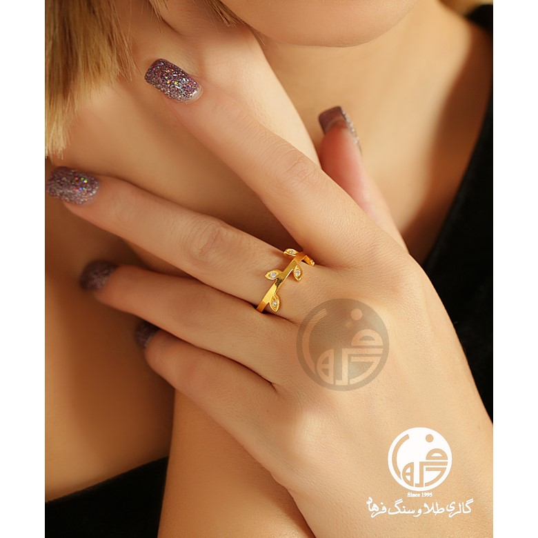 انگشتر طلا طرح خوشه کد R671