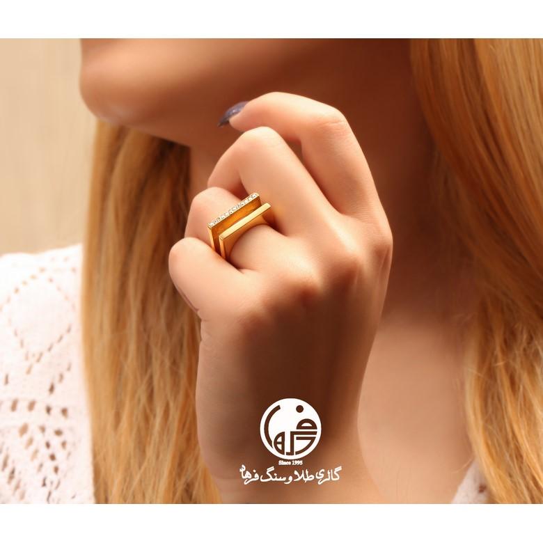 انگشتر طلا طرح خط مایا کد R513