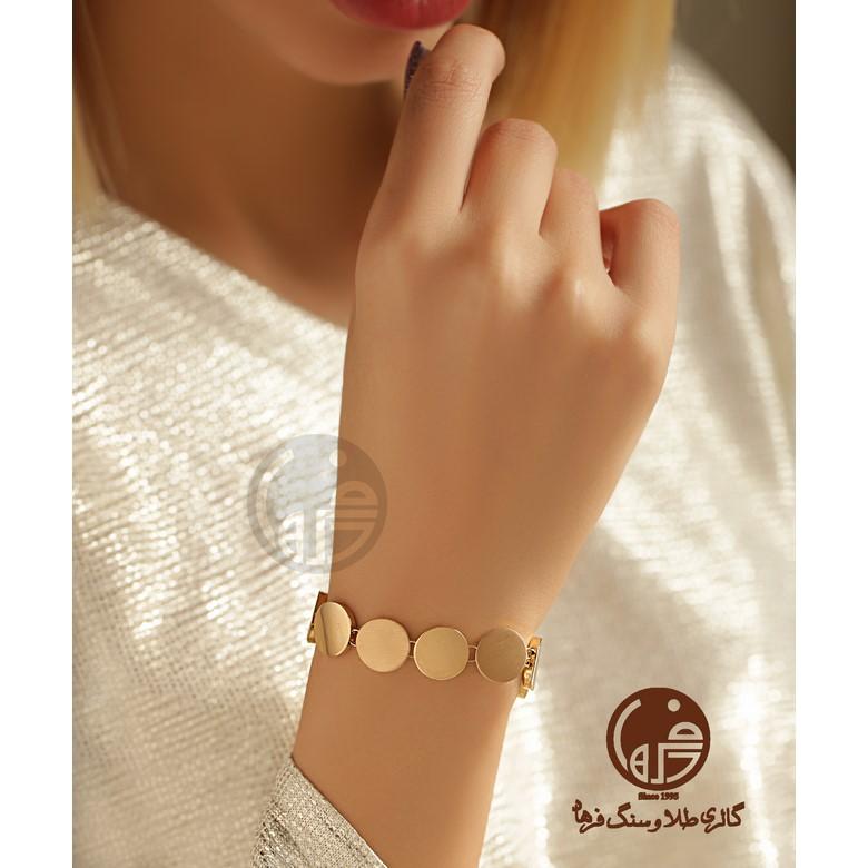 دستبند طلا طرح دایره