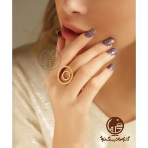 انگشتر طلا طرح دایره آنجل هابل کد R680