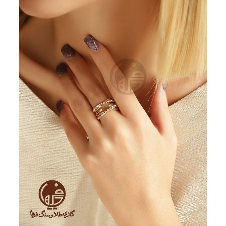 انگشتر طلا طرح برناردو کد R681