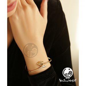 دستبند طلا النگویی طرح پنتر