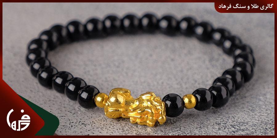 دستبند طلا مهره ای