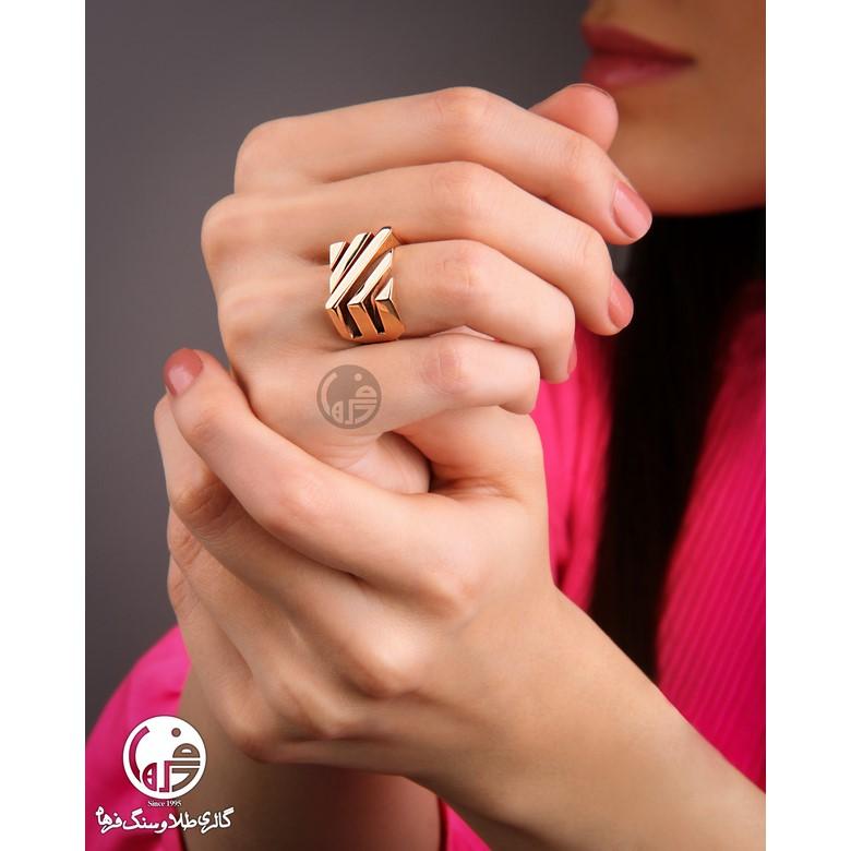 انگشتر طلا طرح آنجل هابل خطی کد R685
