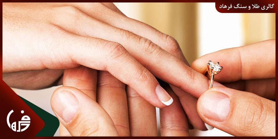 سایز استاندارد انگشتر طلا
