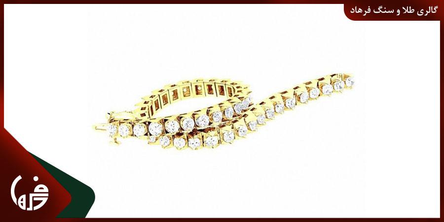 دستبند طلا تنیسی