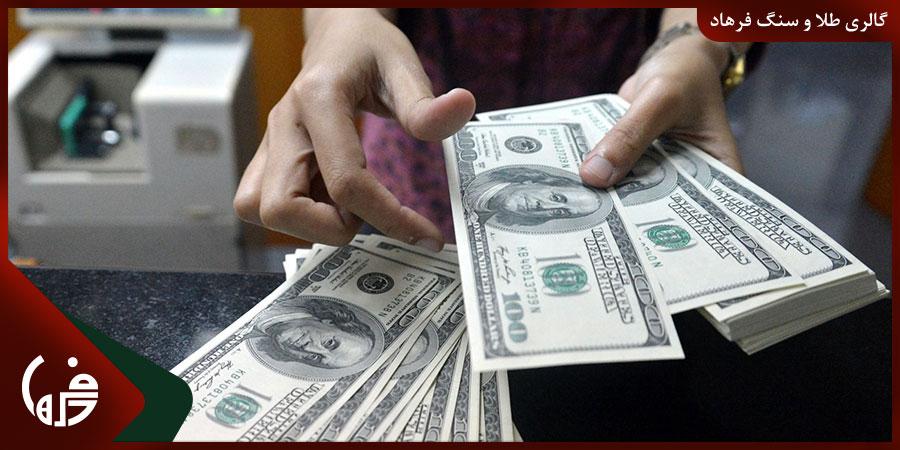 تاثیر ارزش دلار آمریکا در رشد قیمت طلا
