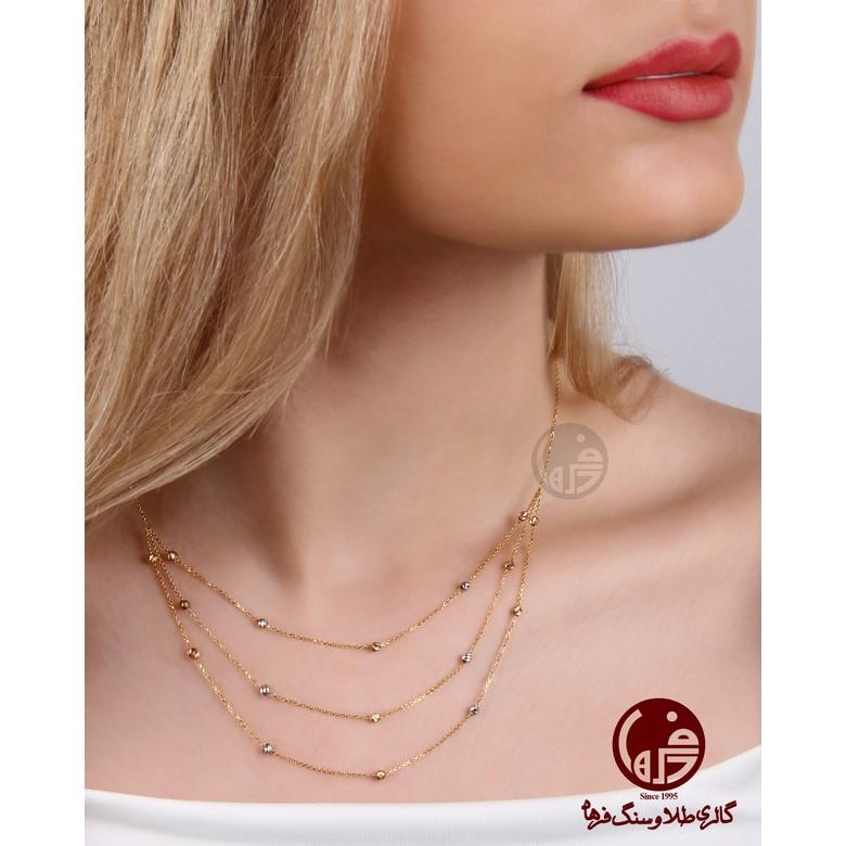 گردنبند طلا سه تایی طرح برناردو کد N703