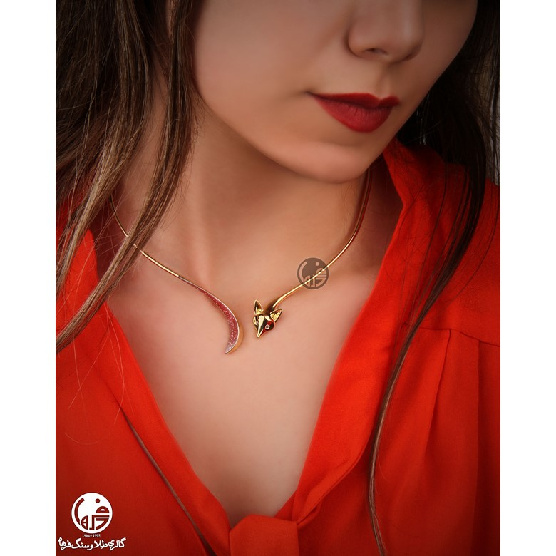 گردنبند طلا طرح روباه کدN693