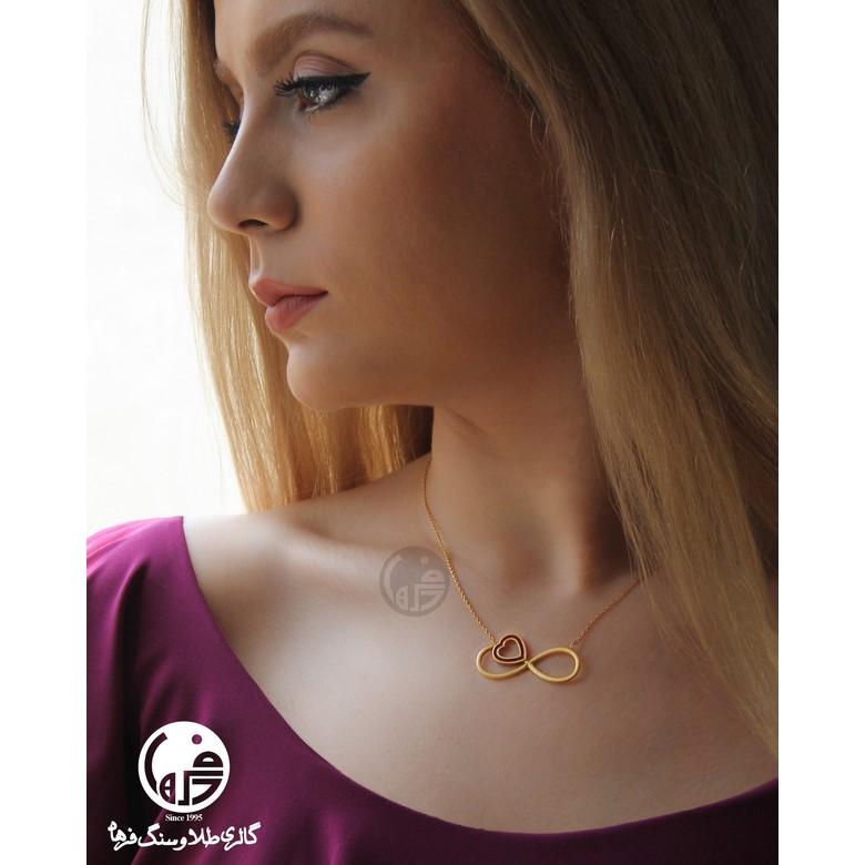 گردنبند طلا طرح بینهایت و قلب کد N709