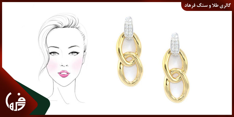 جواهرات مناسب صورت بیضی شکل