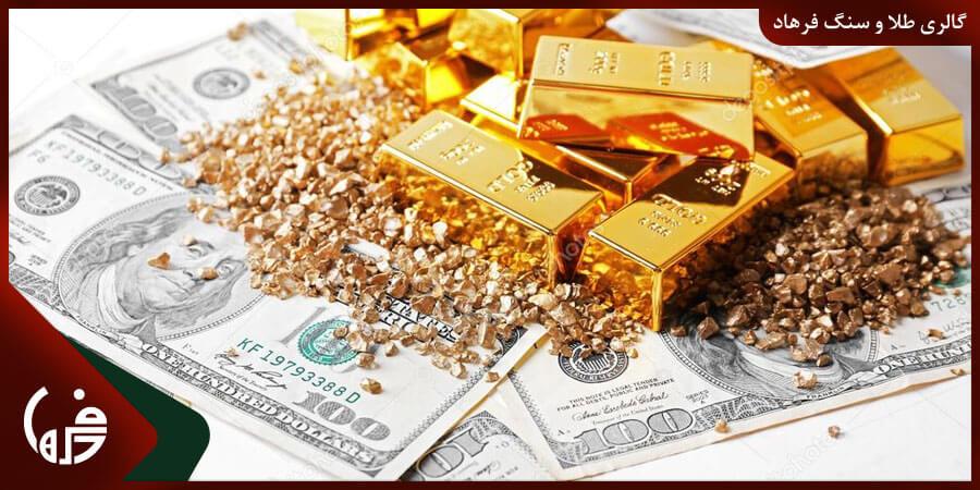 تاثیر قیمت دلار در افرایش قیمت طلا