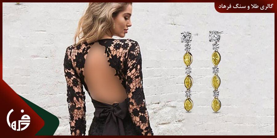 انتخاب گردنبند برای لباس پشت باز