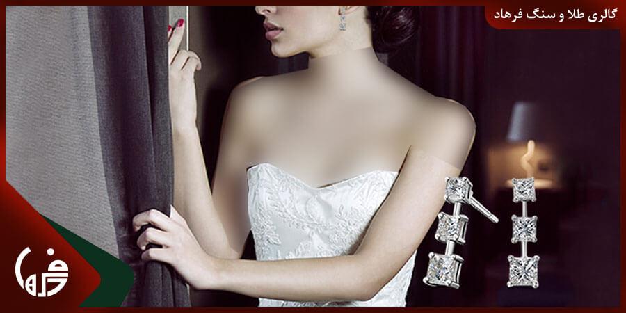 انتخاب گوشواره برای لباس دکلته