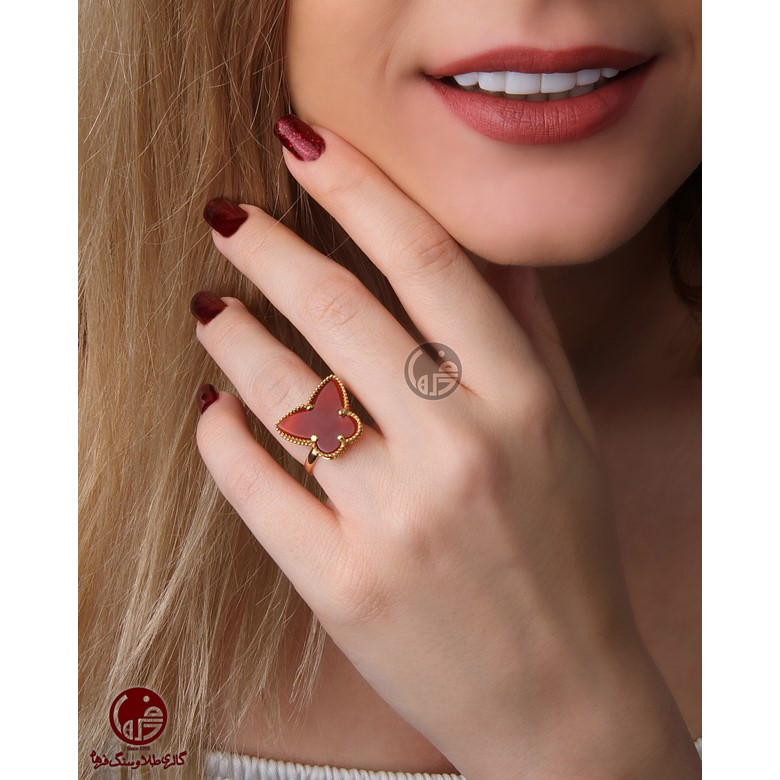 انگشتر طلا طرح پروانه کد R726